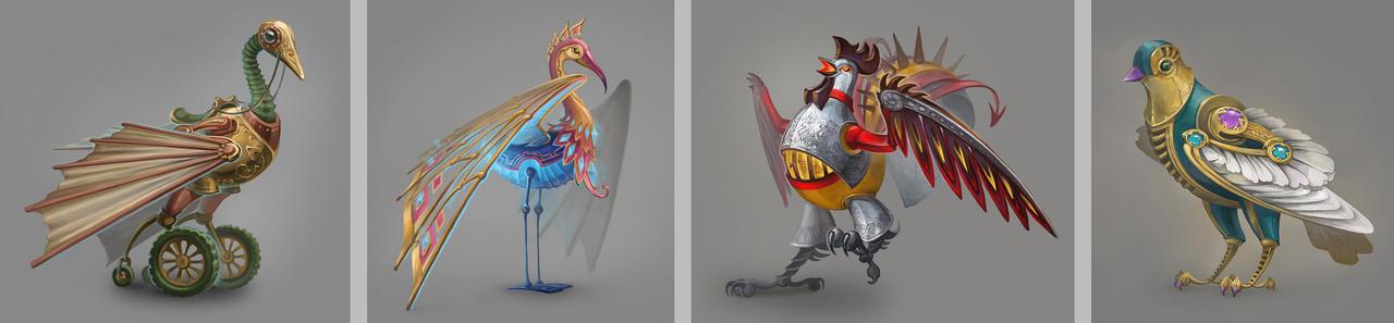 Mechanical birds by Joya-Filomena