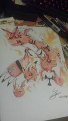 Guilmon Evolution by SoraKamijo