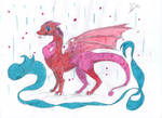 Pink dragon by goina