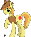 A Late Night Drawing   Braeburn by hudthepony