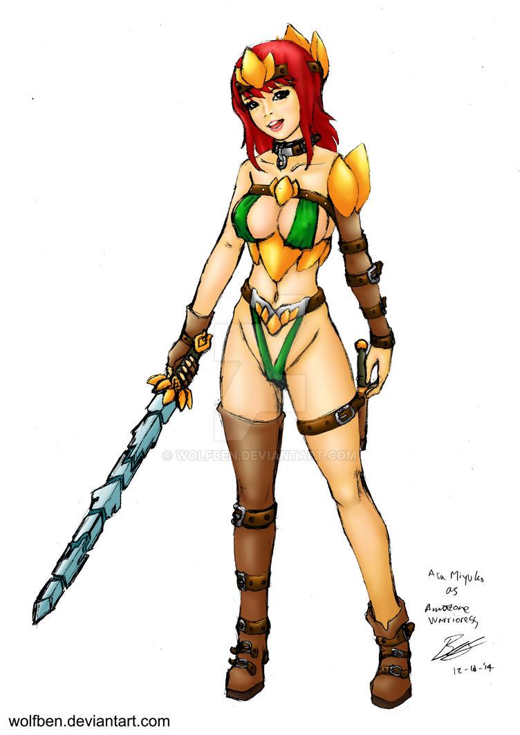Aza Miyuko as The Amazone Warrioress by WOLFBEN