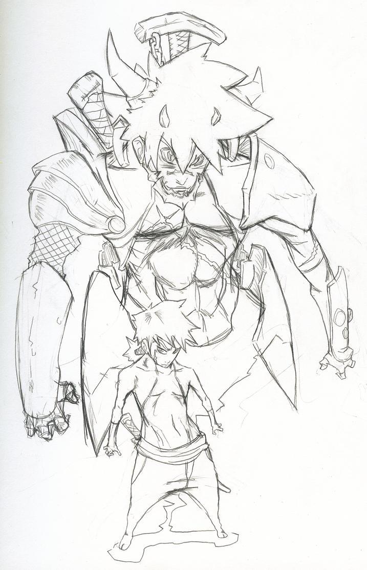samurai demon-pencil by infinite-arter on DeviantArt