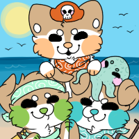 Triplesoosh Pirates - Finished YCH by dachshvnd