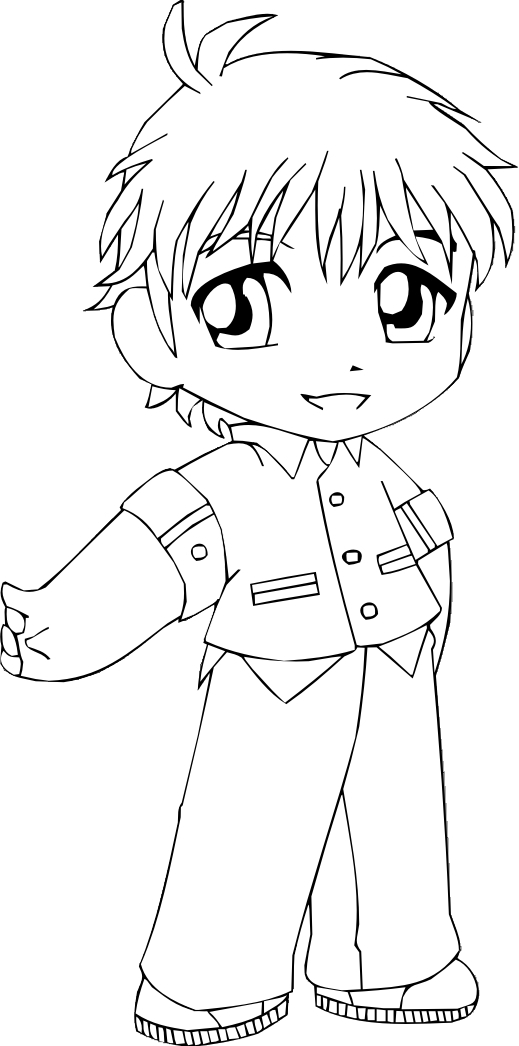 anime chibi boy coloring pages - photo#14