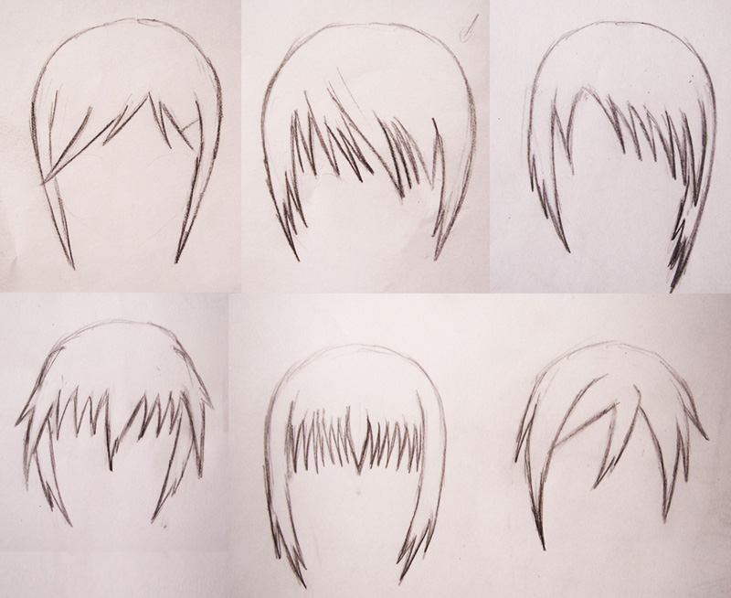 Anime Hair Sketch 1 By Chloenoir On Deviantart