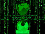 Wikileaks vs Matrix wallpaper