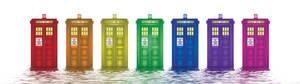 Rainbow Tardis