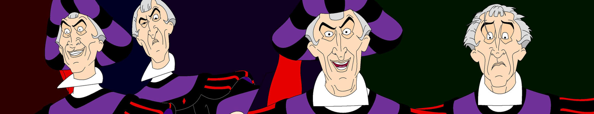 The Judge Claude Frollo strip by FalconGirl978