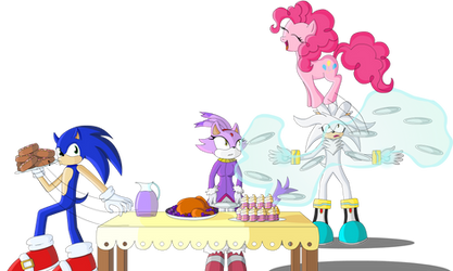 Sonics and Pinkie Pie by Polaicy