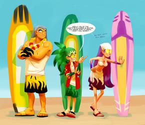 Beach Bullies by knockabiller