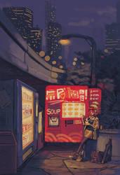 City Lights and Midnight Bites by knockabiller