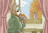 Mister Rabbit's Morning Tea by IdaHarra