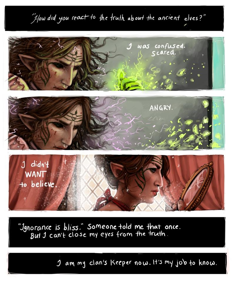 Ancient elves reaction by IdaHarra