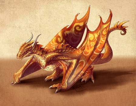 Commission - Terracotta Wyvern