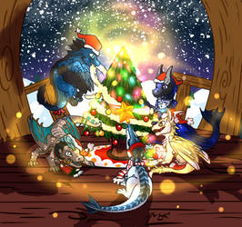 Dragon Christmas by MarAlmok