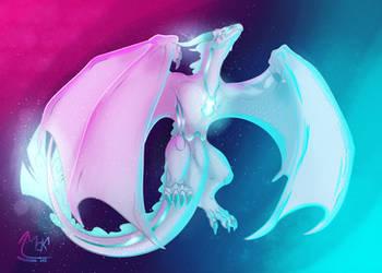 Art trade- Omei Dragon by MarAlmok