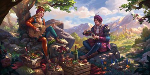 The Witcher 3 Wild Hunt_Priscilla and Dandelion