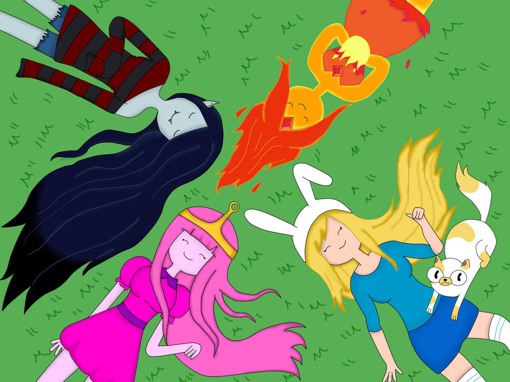 Adventure Time Girls! by AndiScissorhands
