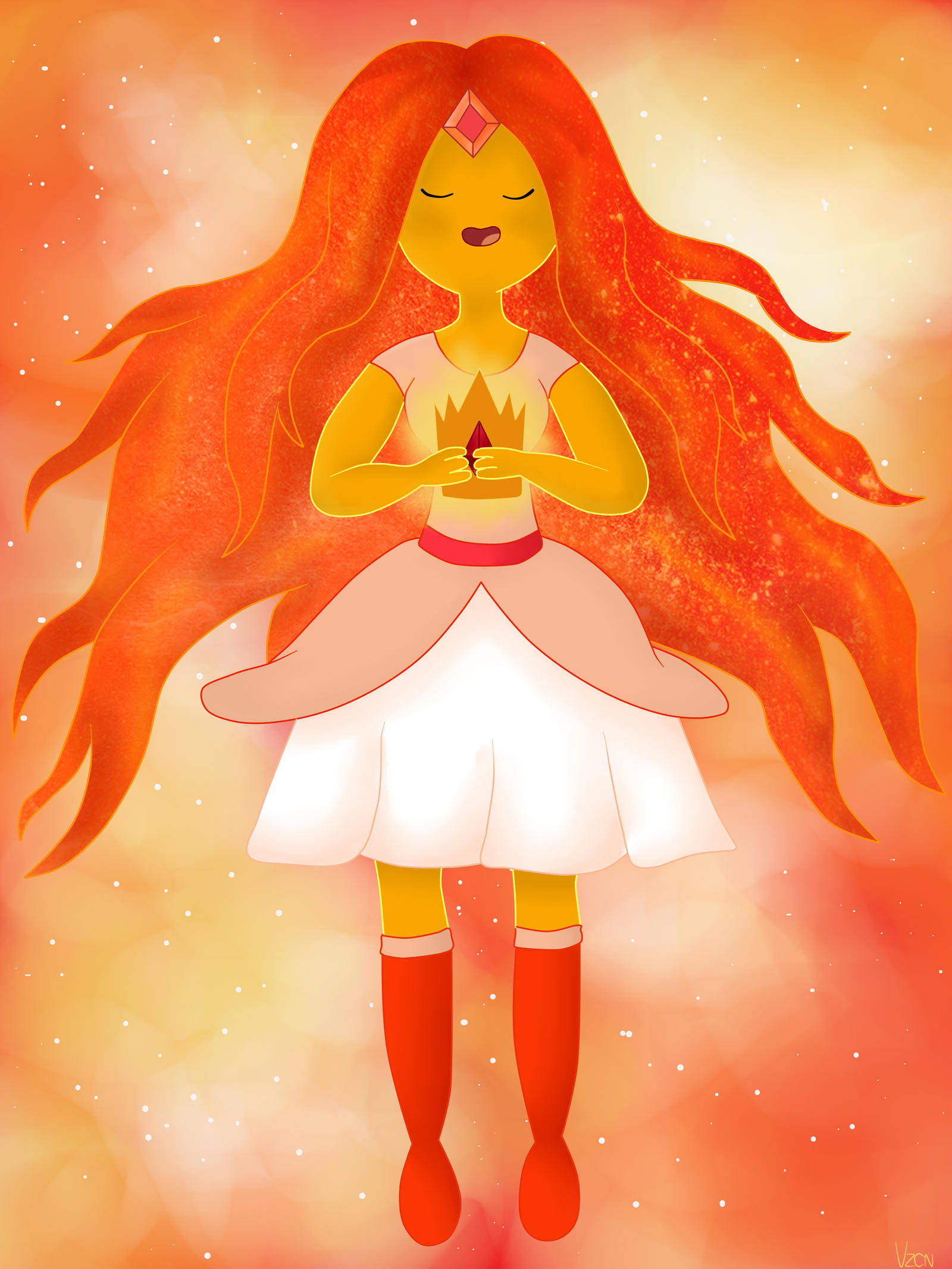 The New Queen- Flame Princess by AndiScissorhands