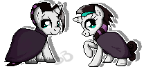 Pixel Ohnine and Sixtoh by TurrKoise