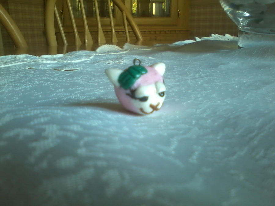 Hand Made Polymer Clay Pink Llama Charm by kkperson