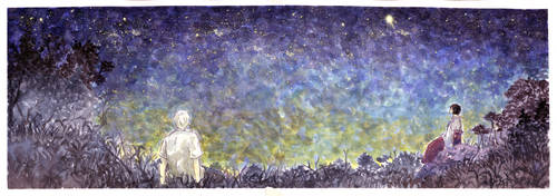 mushishi starry night by HydroENKI