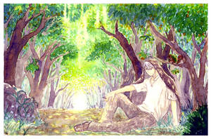 mushishi green by HydroENKI
