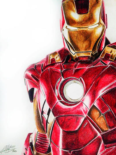 iron man colour by andresbellorin art - Iron Man Pictures To Colour