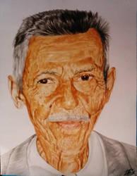 Portrait of my grandpa by AndresBellorin-ART