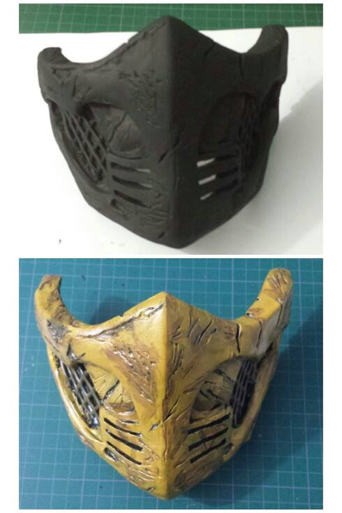 Scorpion Mask Wip 2 Mortal Kombat X By Andresbellorin Art On