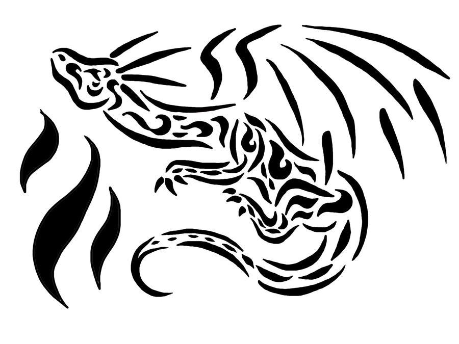dragon flame tattoo design by jester wolf on deviantart. Black Bedroom Furniture Sets. Home Design Ideas