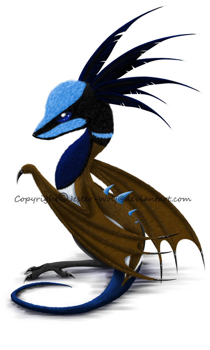 Baby Superb Fairy Wren Dragon by Jester-Wolf
