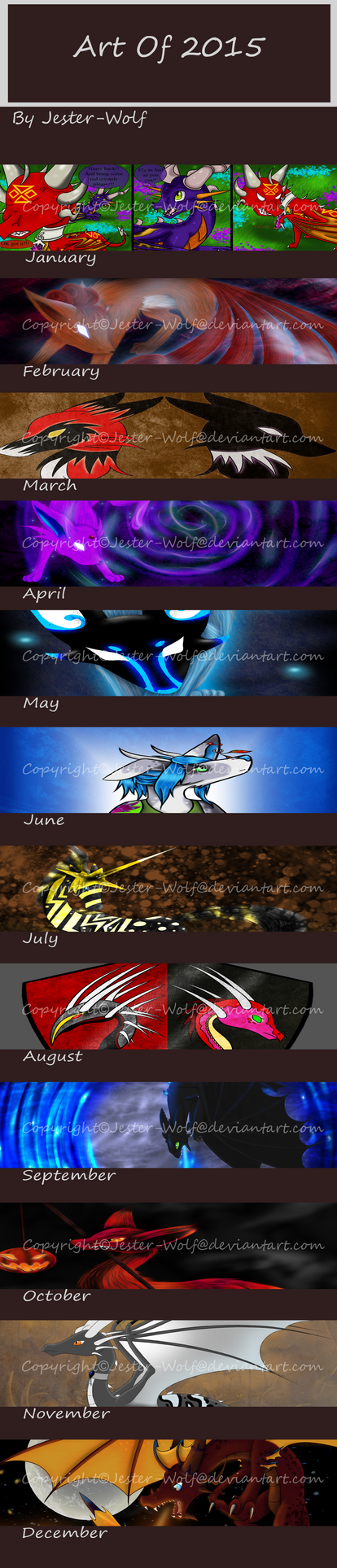 Art Of 2015 by Jester-Wolf