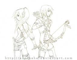 Battle Pose - Sketch