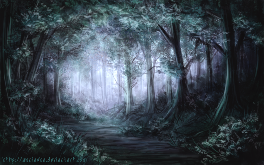 Forest at Dawn Dawn Forest by Anniasha