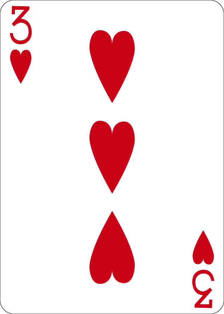 3 of hearts by farvei