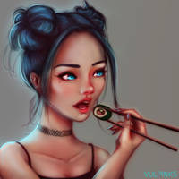 Sushi by vulpinks