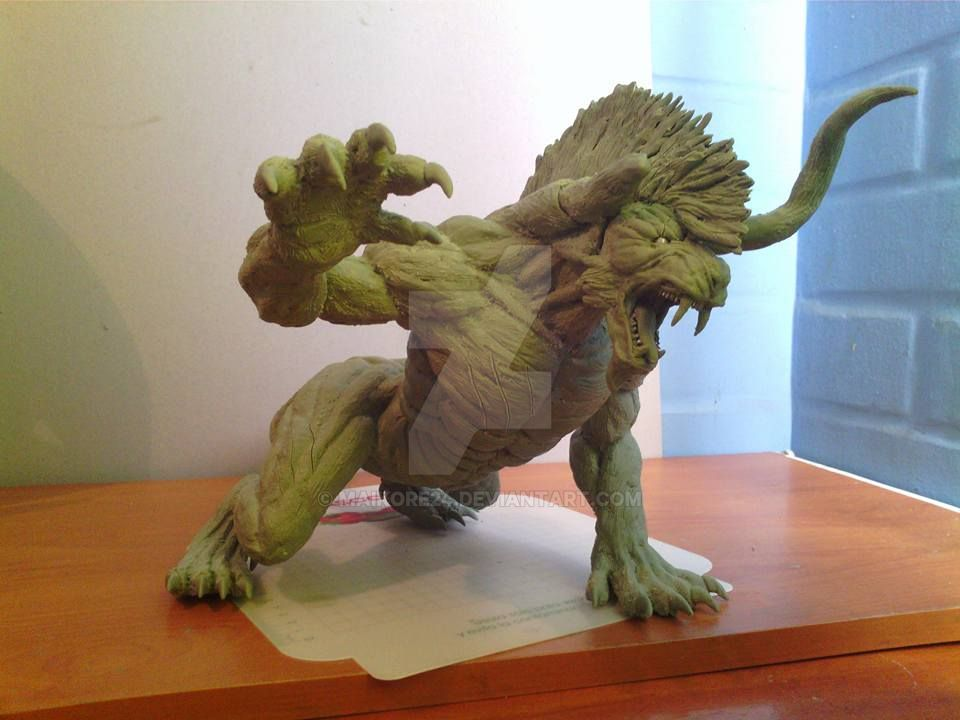 Final Fantasy XV Behemoth sculpture (Deadeye) by Maikore24