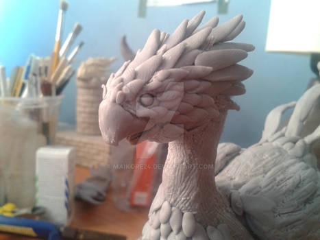 Chocobo Final Fantasy sculpture (WIP)