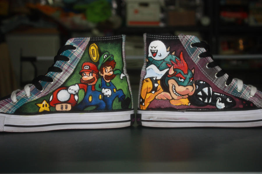 Super Mario Custom Shoes 1 by Harpo-exe
