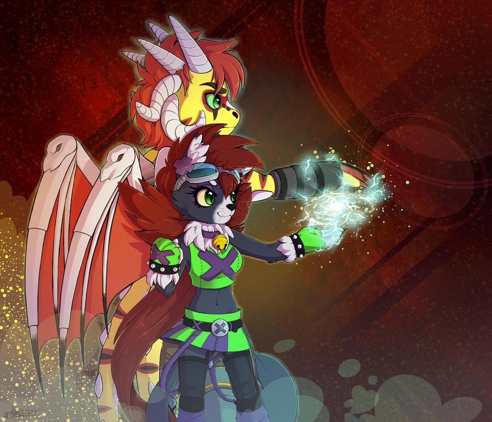 G: Lightning blast by Spark-Dragon