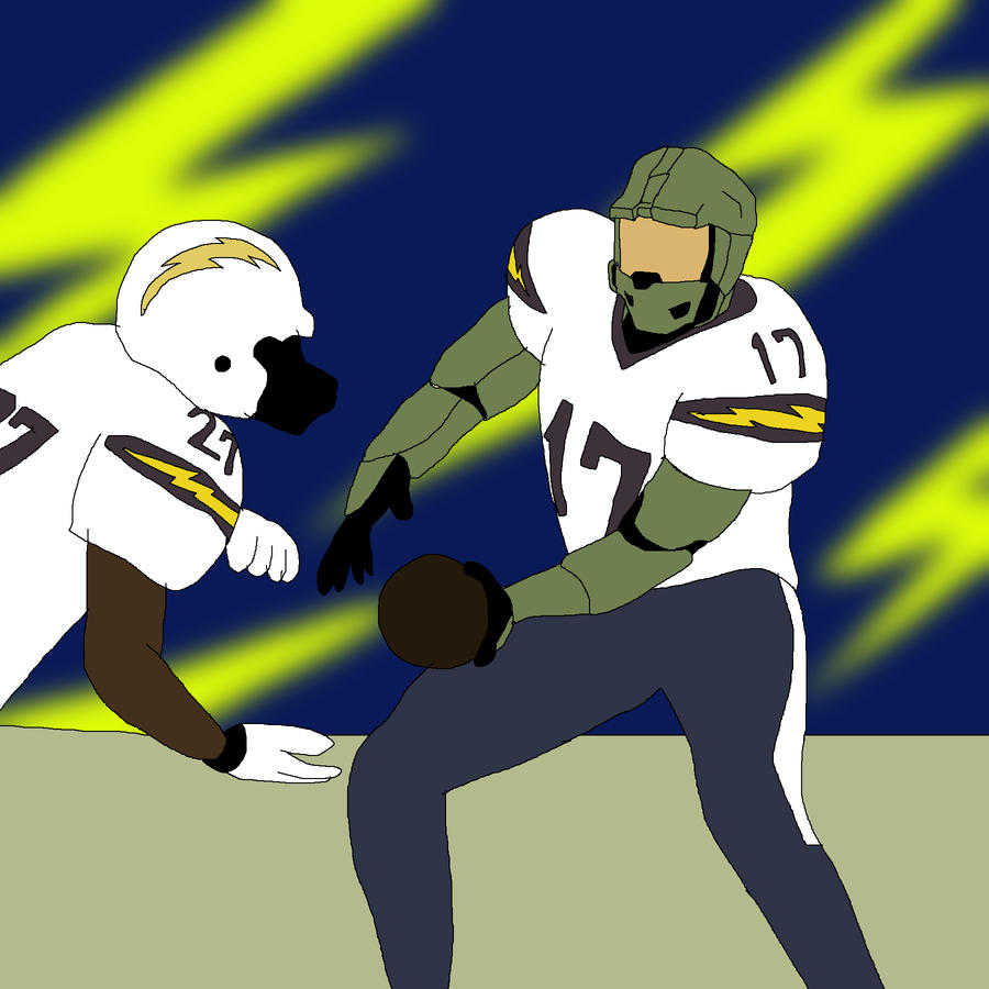 Nfl Player Master Chief San Diego Chargers By Ssvineman
