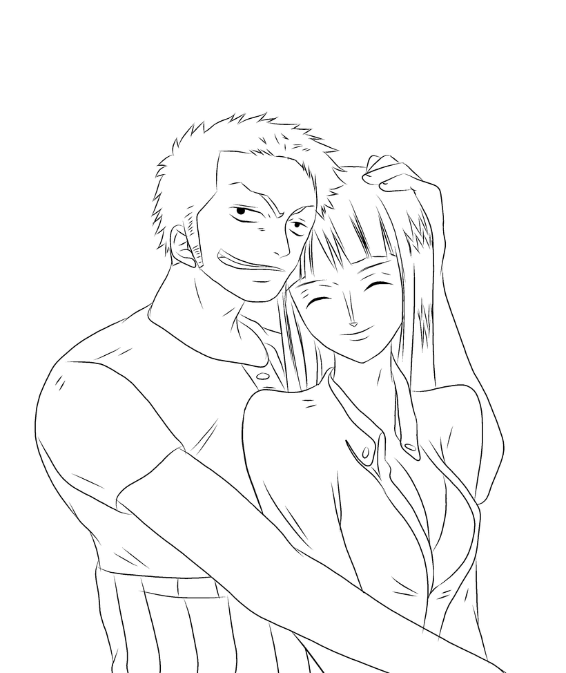 One piece zoro and nico robin by homunculuslust on deviantart - One piece coloriage ...