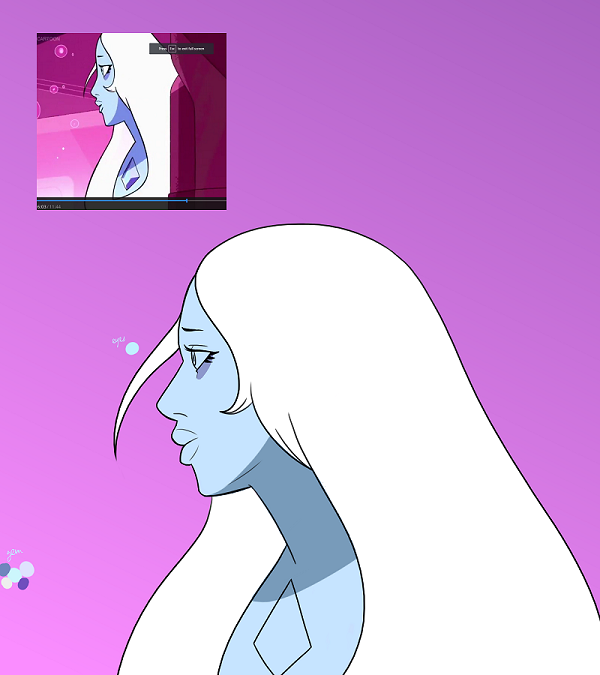 wip of the blue wife by InvaderTarren13