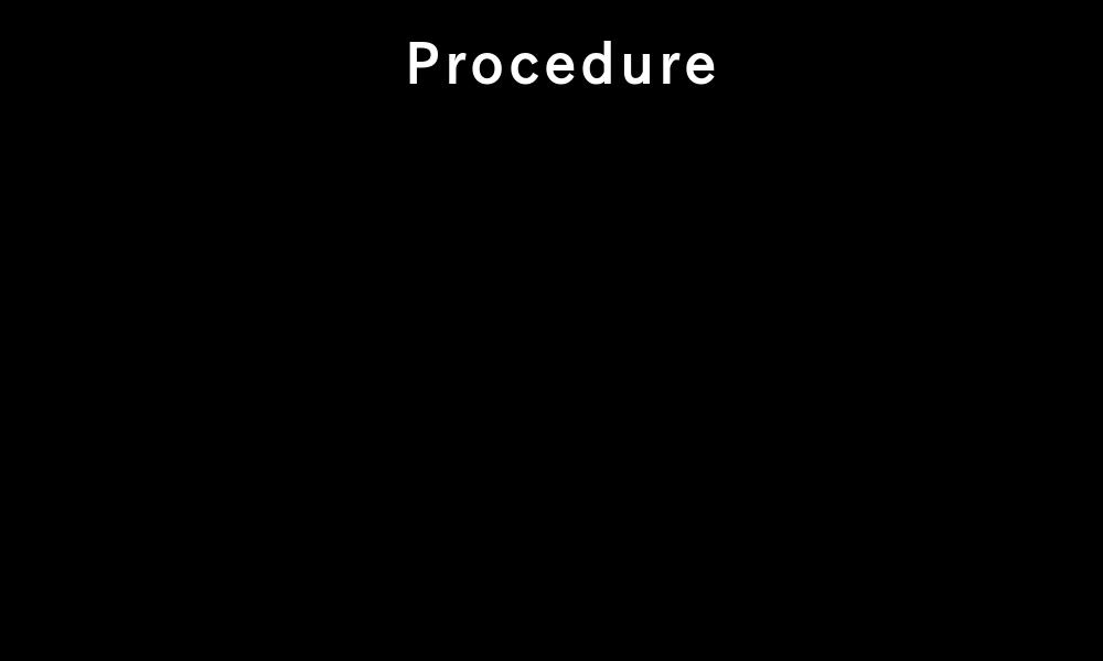 Procedure by SaiwoProject
