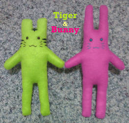 Small Tiger and Bunny Plushies