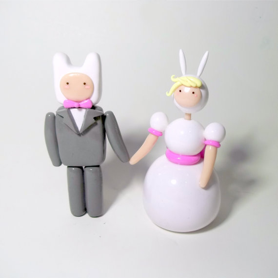 Adventure Time Wedding Toppers by ImSodaHyper