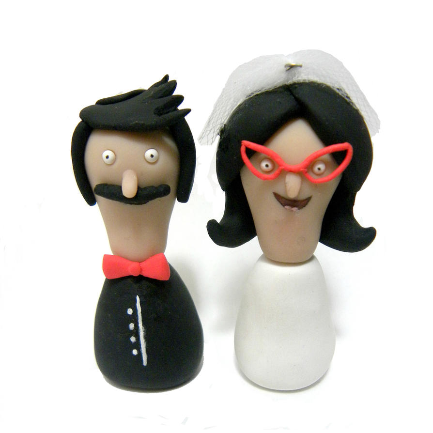 Bob's Burger's Wedding Toppers by ImSodaHyper