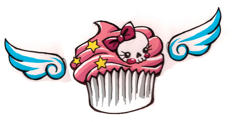 Cake Art Design School : Tattoo Idea - Muffin Cupcake by poortommy on DeviantArt