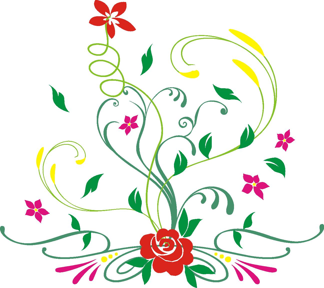 Pink Floral Pattern Design Background